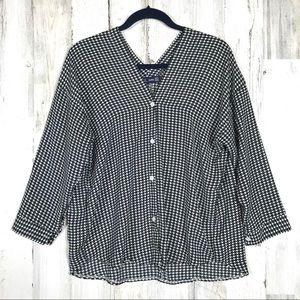 Zara | Geometric Balck&White Pattern Size Large